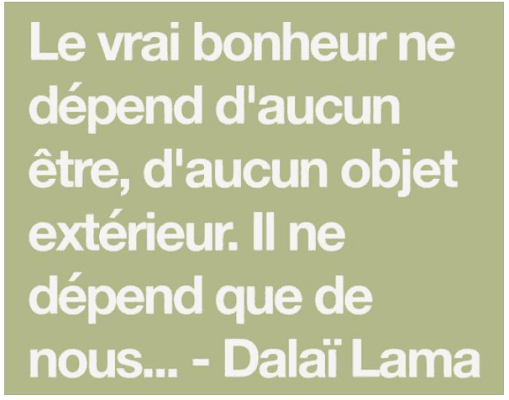 une citation Dalai lama pour donner de la motivation pendant le confinement